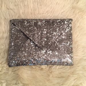 Cache Sequined Clutch